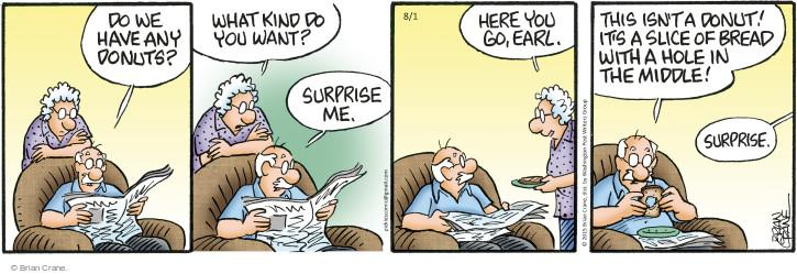 Comic Strip Brian Crane  Pickles 2015-08-01 middle
