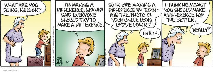 Comic Strip Brian Crane  Pickles 2015-08-06 upside down