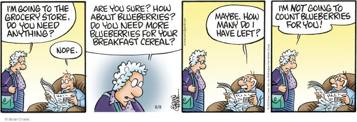 Cartoonist Brian Crane  Pickles 2015-08-08 cereal