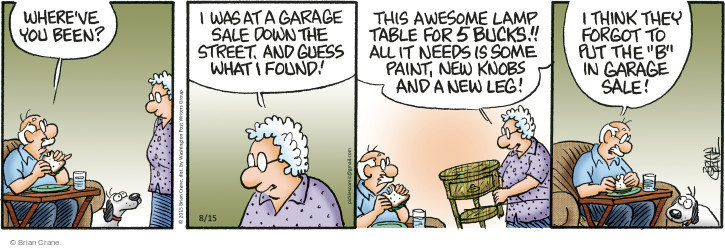 Comic Strip Brian Crane  Pickles 2015-08-15 trash