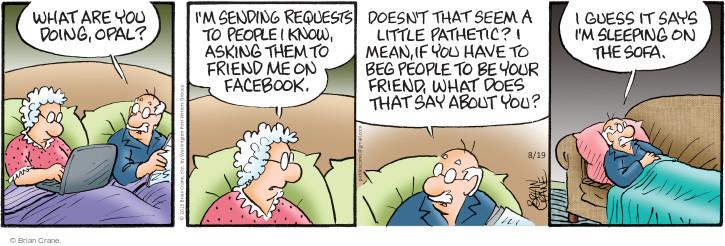 Comic Strip Brian Crane  Pickles 2015-08-19 argument