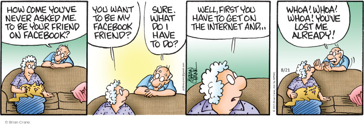 Comic Strip Brian Crane  Pickles 2015-08-21 friending