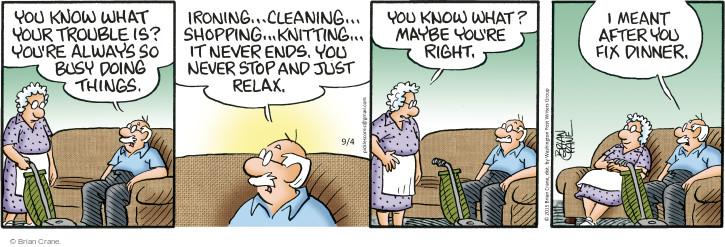 Comic Strip Brian Crane  Pickles 2015-09-04 knit