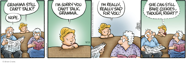 Cartoonist Brian Crane  Pickles 2015-09-11 cookie
