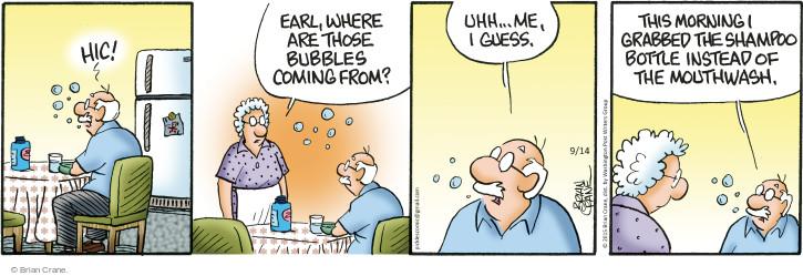 Comic Strip Brian Crane  Pickles 2015-09-14 bubble
