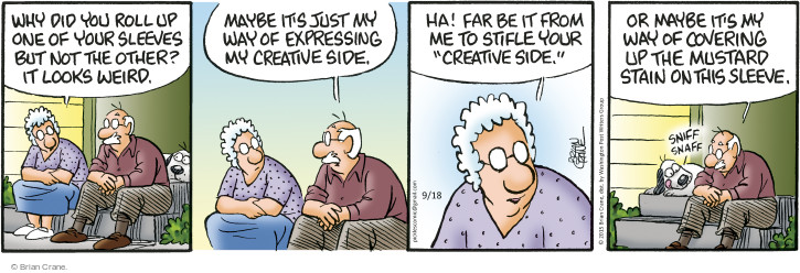 Comic Strip Brian Crane  Pickles 2015-09-18 covering