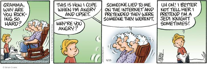 Comic Strip Brian Crane  Pickles 2015-09-25 anger