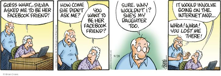 Comic Strip Brian Crane  Pickles 2015-09-28 whoa