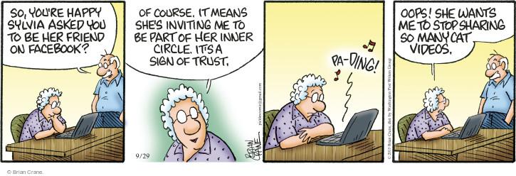 Comic Strip Brian Crane  Pickles 2015-09-29 trust
