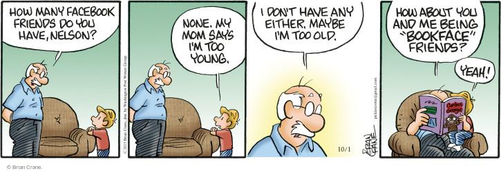Comic Strip Brian Crane  Pickles 2015-10-01 too