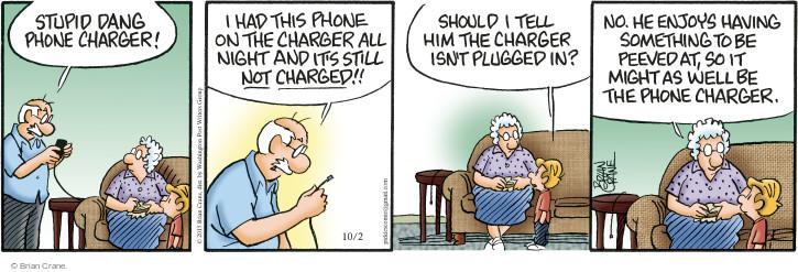 Comic Strip Brian Crane  Pickles 2015-10-02 anger