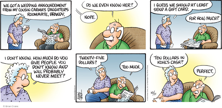 Comic Strip Brian Crane  Pickles 2015-10-11 daughter