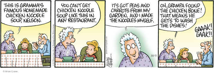 Comic Strip Brian Crane  Pickles 2015-10-05 ingredient