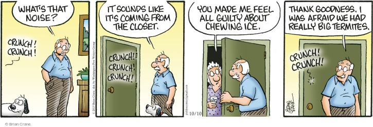 Comic Strip Brian Crane  Pickles 2015-10-10 chew