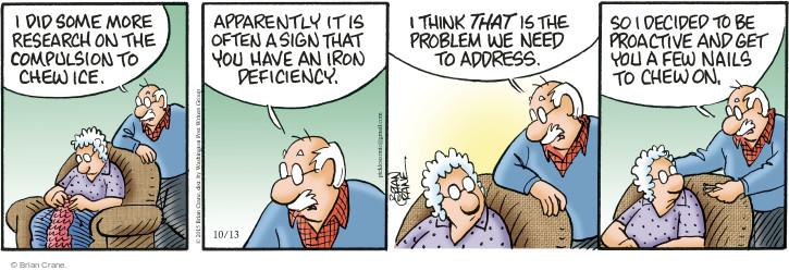 Comic Strip Brian Crane  Pickles 2015-10-13 ice