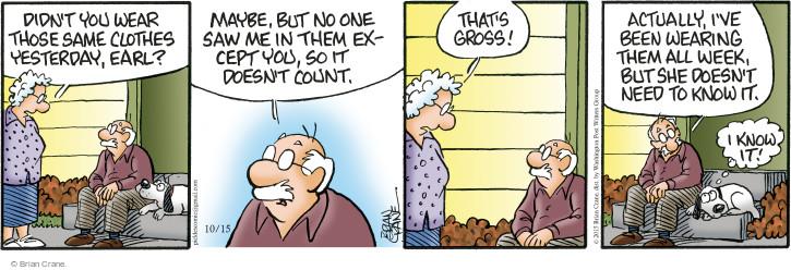 Comic Strip Brian Crane  Pickles 2015-10-15 count