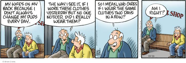 Comic Strip Brian Crane  Pickles 2015-10-16 smelly