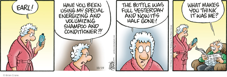 Comic Strip Brian Crane  Pickles 2015-10-19 shampoo