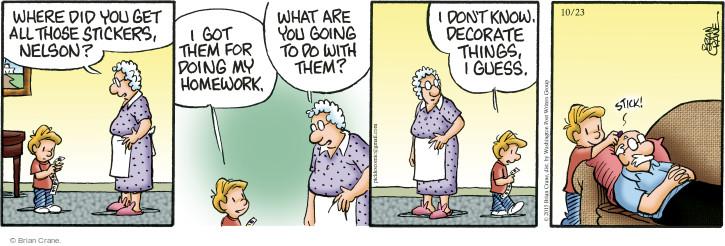 Comic Strip Brian Crane  Pickles 2015-10-23 school