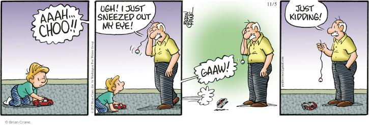 Comic Strip Brian Crane  Pickles 2015-11-05 tease