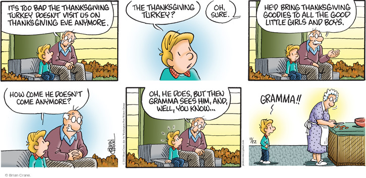Comic Strip Brian Crane  Pickles 2015-11-22 Thanksgiving