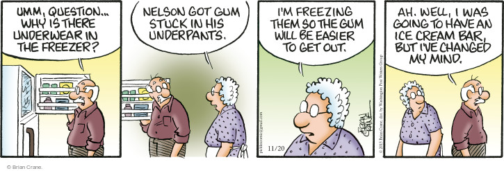 Comic Strip Brian Crane  Pickles 2015-11-20 freeze