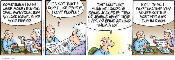 Comic Strip Brian Crane  Pickles 2015-11-24 fall in love