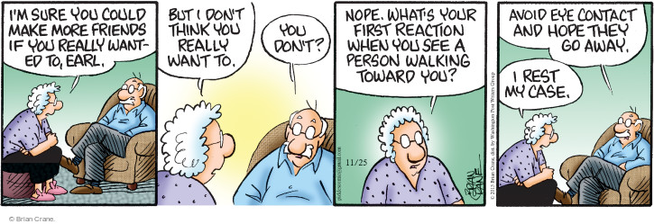 Comic Strip Brian Crane  Pickles 2015-11-25 react
