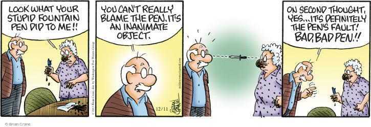Comic Strip Brian Crane  Pickles 2015-12-11 responsibility