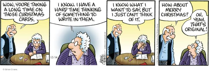Comic Strip Brian Crane  Pickles 2015-12-14 Merry