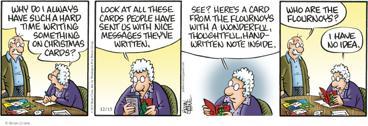 Comic Strip Brian Crane  Pickles 2015-12-15 unfamiliar