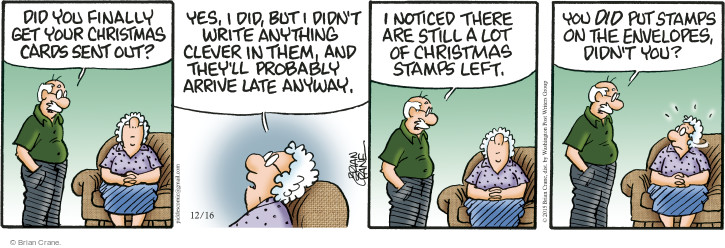 Comic Strip Brian Crane  Pickles 2015-12-16 send card