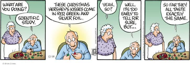Comic Strip Brian Crane  Pickles 2015-12-18 kiss
