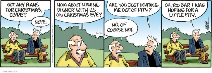 Comic Strip Brian Crane  Pickles 2015-12-23 pity