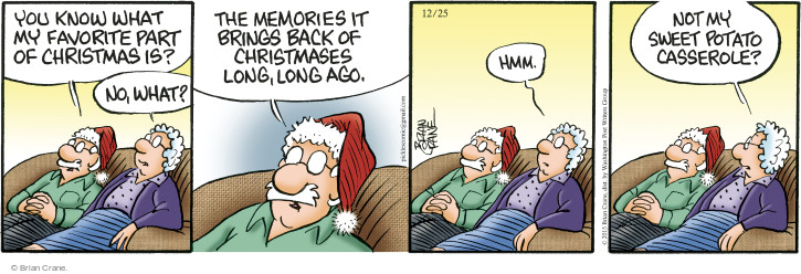 Comic Strip Brian Crane  Pickles 2015-12-25 long memory