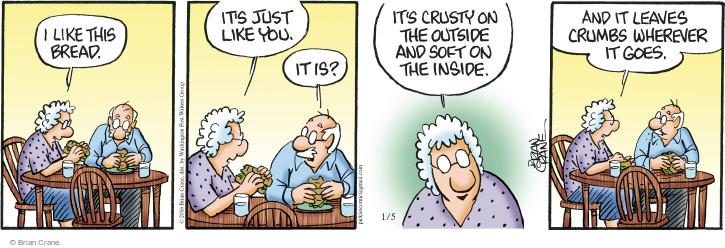 Comic Strip Brian Crane  Pickles 2016-01-05 bread