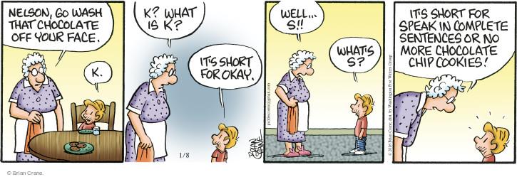 Cartoonist Brian Crane  Pickles 2016-01-08 cookie