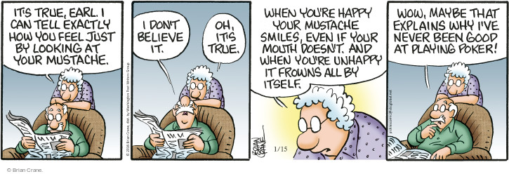 Comic Strip Brian Crane  Pickles 2016-01-15 good feeling