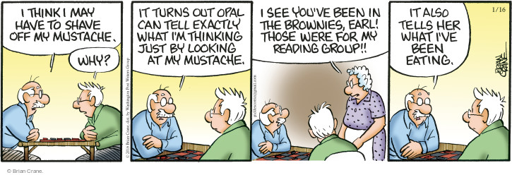 Comic Strip Brian Crane  Pickles 2016-01-16 brownie