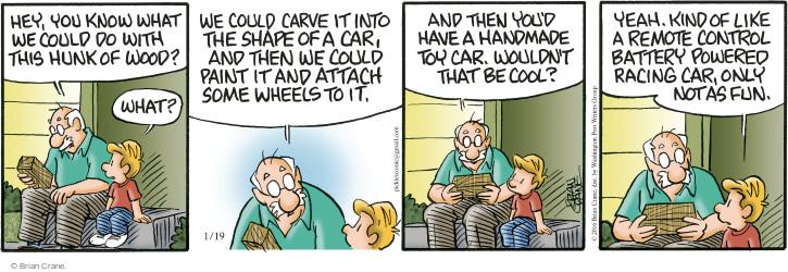 Comic Strip Brian Crane  Pickles 2016-01-19 battery
