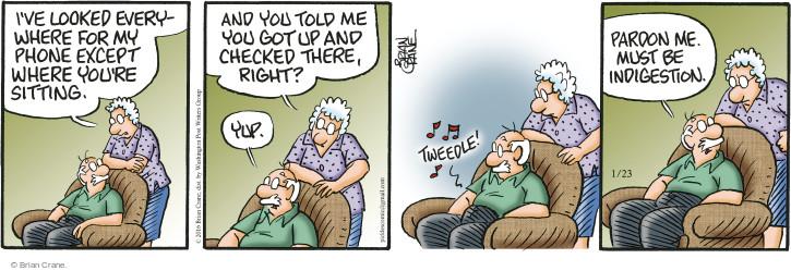 Comic Strip Brian Crane  Pickles 2016-01-23 tweedle