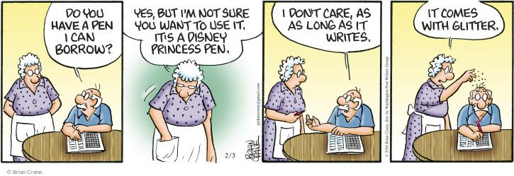Cartoonist Brian Crane  Pickles 2016-02-03 long