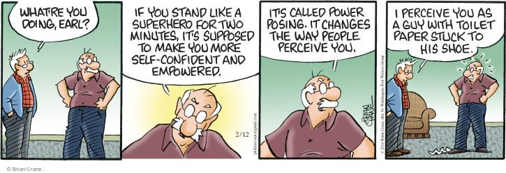 Comic Strip Brian Crane  Pickles 2016-02-12 confidence