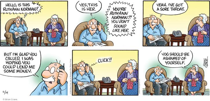 Comic Strip Brian Crane  Pickles 2016-02-14 money