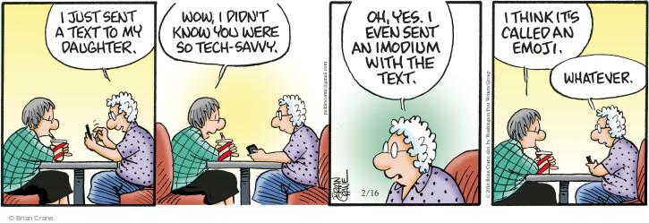Cartoonist Brian Crane  Pickles 2016-02-16 technology