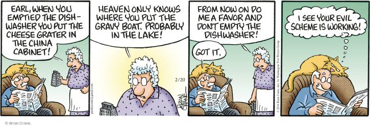 Comic Strip Brian Crane  Pickles 2016-02-20 gravy