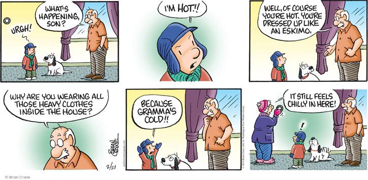 Comic Strip Brian Crane  Pickles 2016-02-21 dressing
