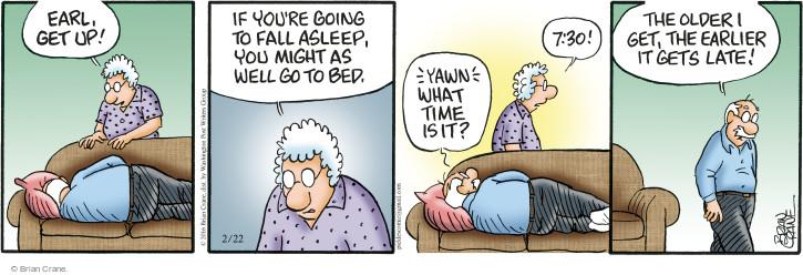 Comic Strip Brian Crane  Pickles 2016-02-22 get old