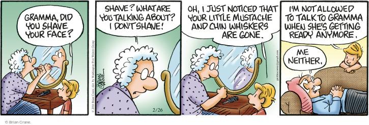 Comic Strip Brian Crane  Pickles 2016-02-26 insult
