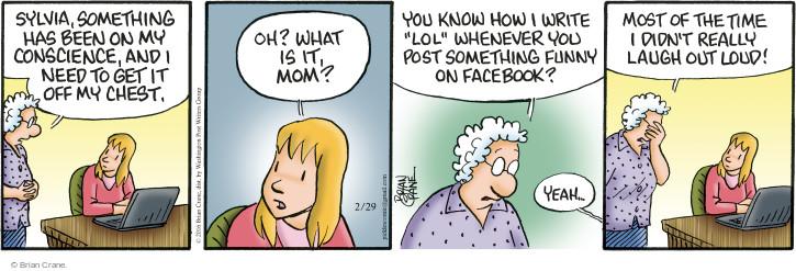 Comic Strip Brian Crane  Pickles 2016-02-29 post